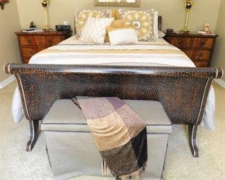 Maitland-Smith sleigh bed