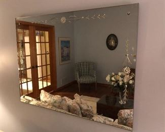 large 1950's Wall Mirror.