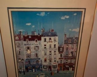 Michel Delacroix Hotel Excelsior Print Signed in the Stone.
