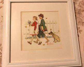 Norman Rockwell Lithos Signed in the Stone.