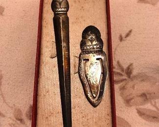 Antique Book Marker & Letter Opener