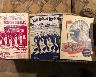 Just Some of the Amazing  Antique Sheet Music Available.