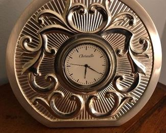 Spectacular Christofle Desk Clock.