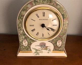 Wedgewood Porcelain Desk Clock