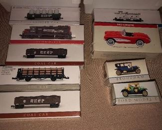 Toy Trains & Automobiles New in Box.