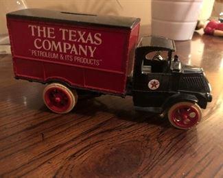 The Texas Company Metal Texaco Truck Bank.