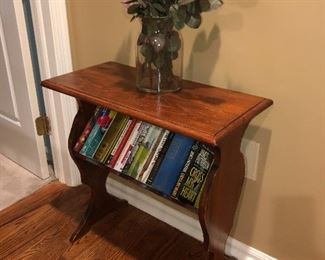 Small Book Shelf End Table