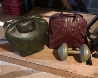 Vintage Bowling Balls and Cases