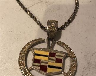 Unusual Vintage Cadillac Hood Ornament Necklace