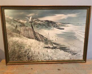 "Ocean / Beach / Shore Artwork ""Seagull on the Dunes"""