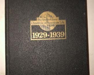 Chronicle of American Life 1929-1939