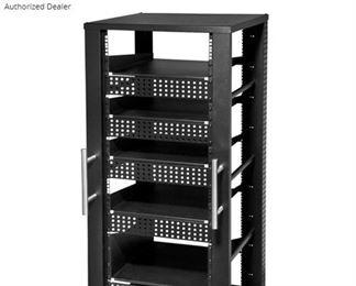 """Heavy metal shelving pieces, assorted shelves , standard 19"""" A/V shelves"""
