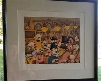 Art Bragg On The House Litho