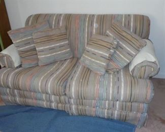 Matching multi-color love seat