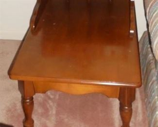 1 of 2 Early American maple end  table