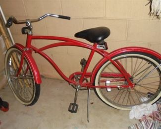 Red 'Huffy' boy's bicycle