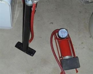 3 bicycle tire air pumps