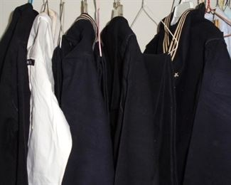 3 full sets of Navy wool uniforms