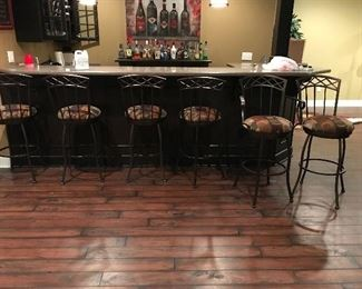 Bar height stools- 2 with arms