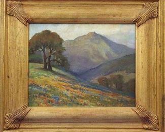 Oil on Canvas, California Landscape.