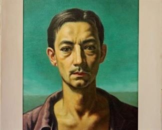 Elmer Lakatos 1951 Self Portrait, Oil on Canvas