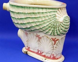 """Seashell"" Commode by The Park & McKay Co. Detroit, Michigan"
