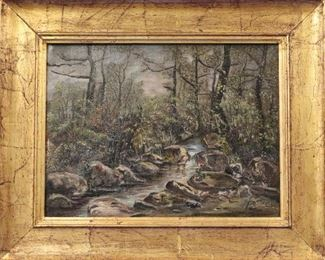 Charles Howard Wooded Landscape, Oil on Canvas