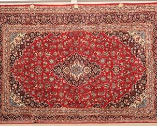 "Kashan Rug, measures  9'6"" x 14'"