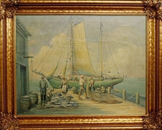 Painting by F. Lasky