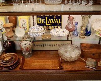 Showcase Grouping - Pottery, Glassware, etc.