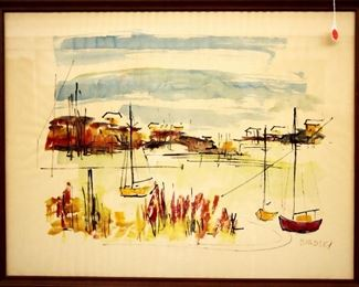 Alfred Birdsey (1912-1996) Watercolor