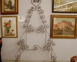 Wall View Grouping - Iron Trellis, Art