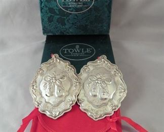 Towle Sterling Silver Christmas Ornaments