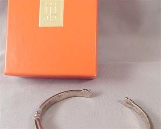 Beautiful RETIRED James Avery Sterling Silver Cuff Bracelet with Native American Design