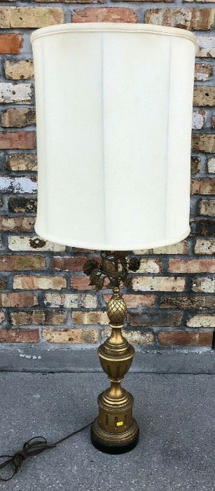 Rose - Wood and Brass Lamp with Shades LA4098 $10