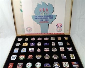 America's Olympic teams insignia medallions ranging from 1896 to 1996 https://ctbids.com/#!/description/share/156131