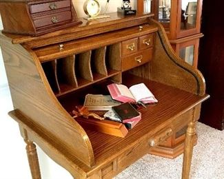 A Fab Ladies Size Roll Top Desk...