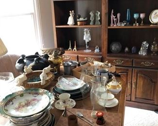 Fine china, antique dishes