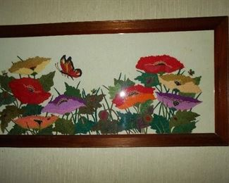 Vintage framed needlework