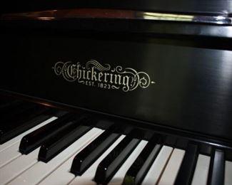 Chickering piano in black lacquer