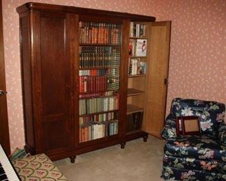 Pristine antique book case/china cabinet