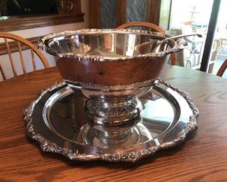 Large stunning punch bowl set