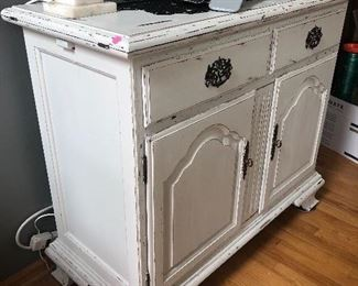 white distressed server