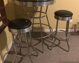 pub height table and stool set