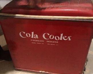 vintage cola cooler