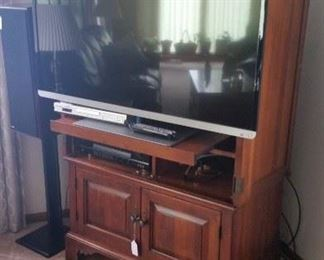 "50"" Toshiba TV Panasonic DVD Sherwood receiver"