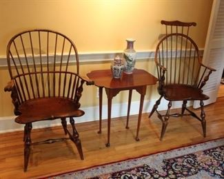 D.R Dimes Windsor chairs & Eldred Wheeler tea table