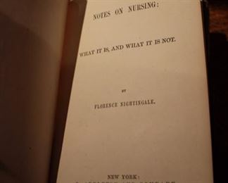 Notes on Nursing by Florence Nightingale - first edition