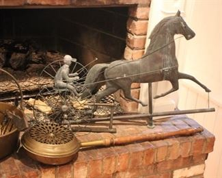 Horse & jockey weathervane