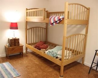 Bunk beds with ladder